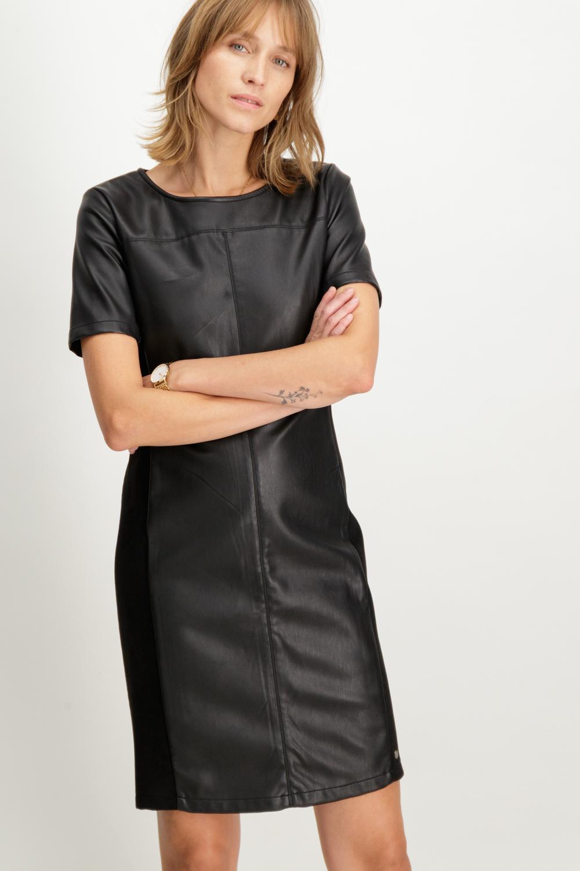 Garcia Leather Panel Dress
