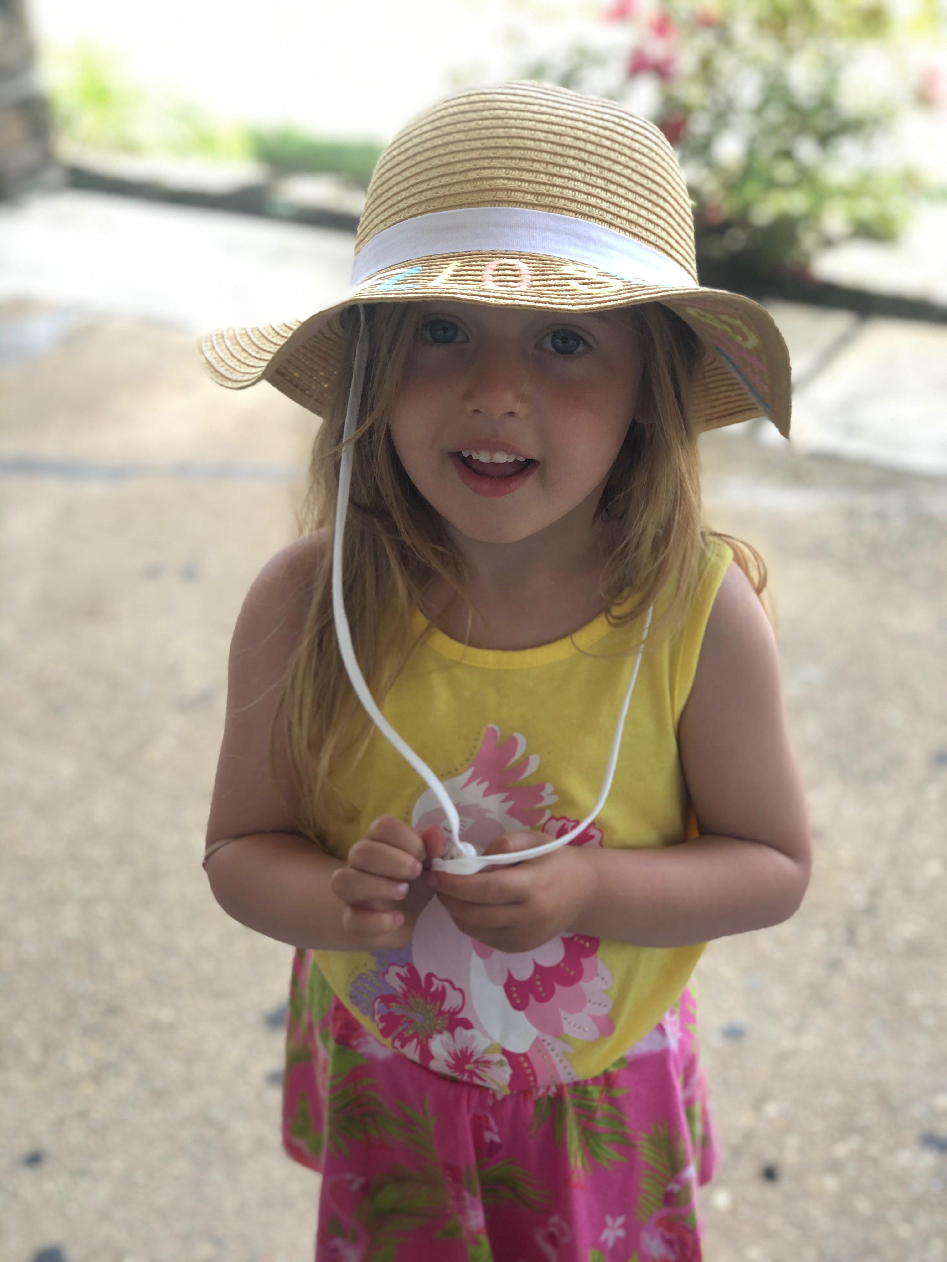 Kids Floppy Beach Hat / Hello Sunshine