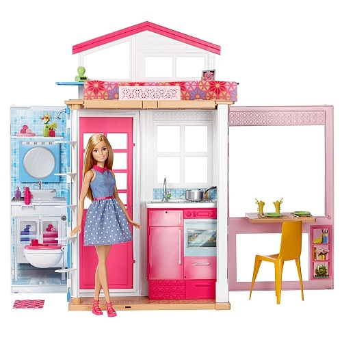 BARBIE 2-STORY HOUSE & DOLL