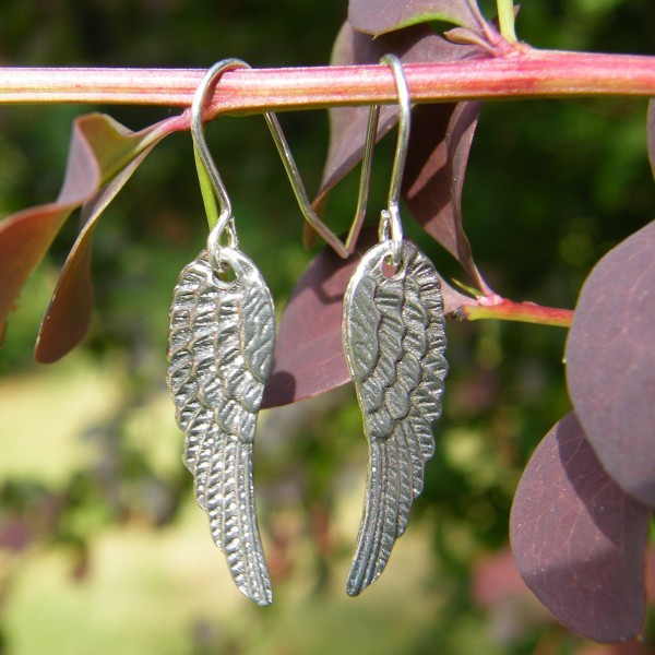 Angel's Wings Pewter Earrings