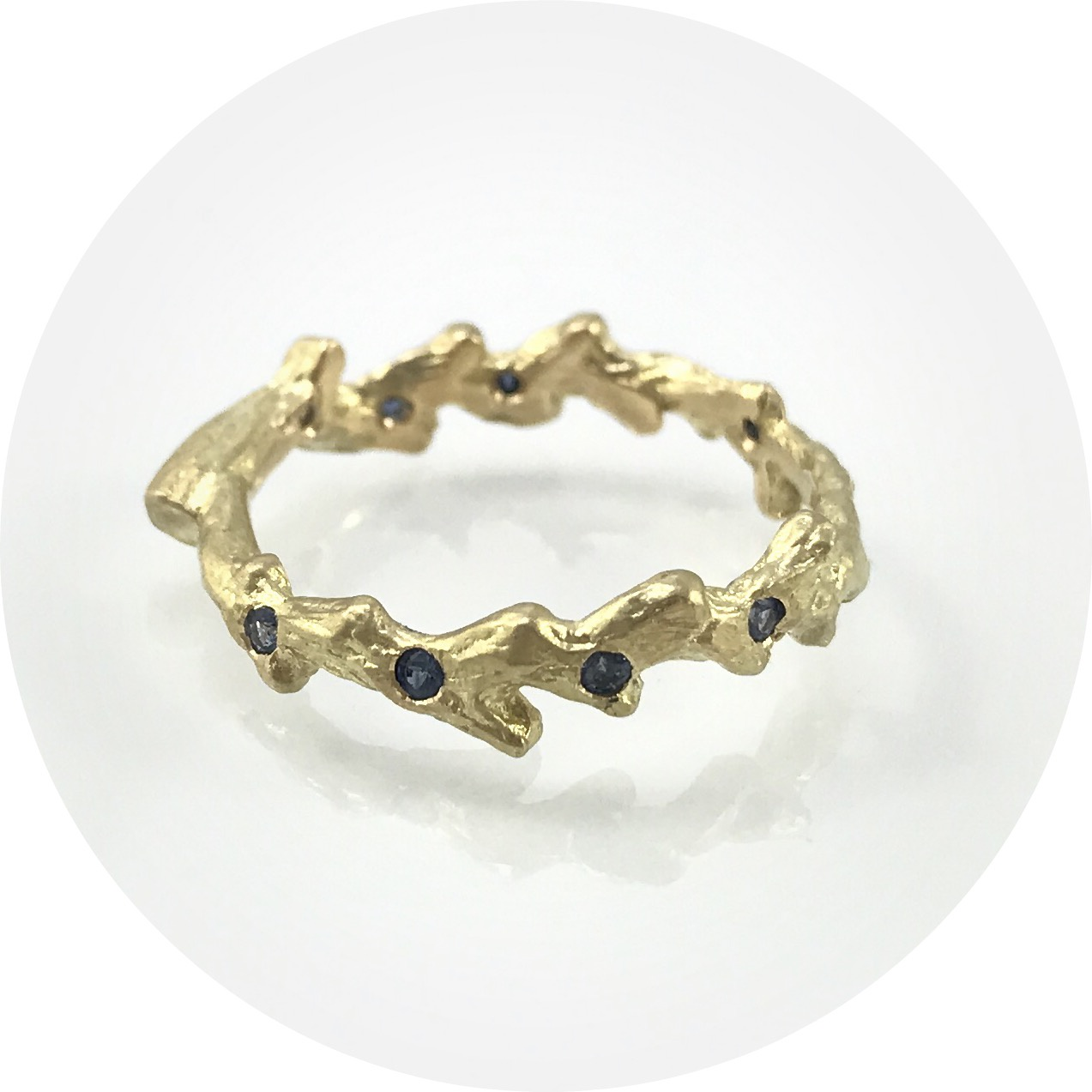 Antonia Field - 18ct Yellow Gold Seaweed Stacking Ring