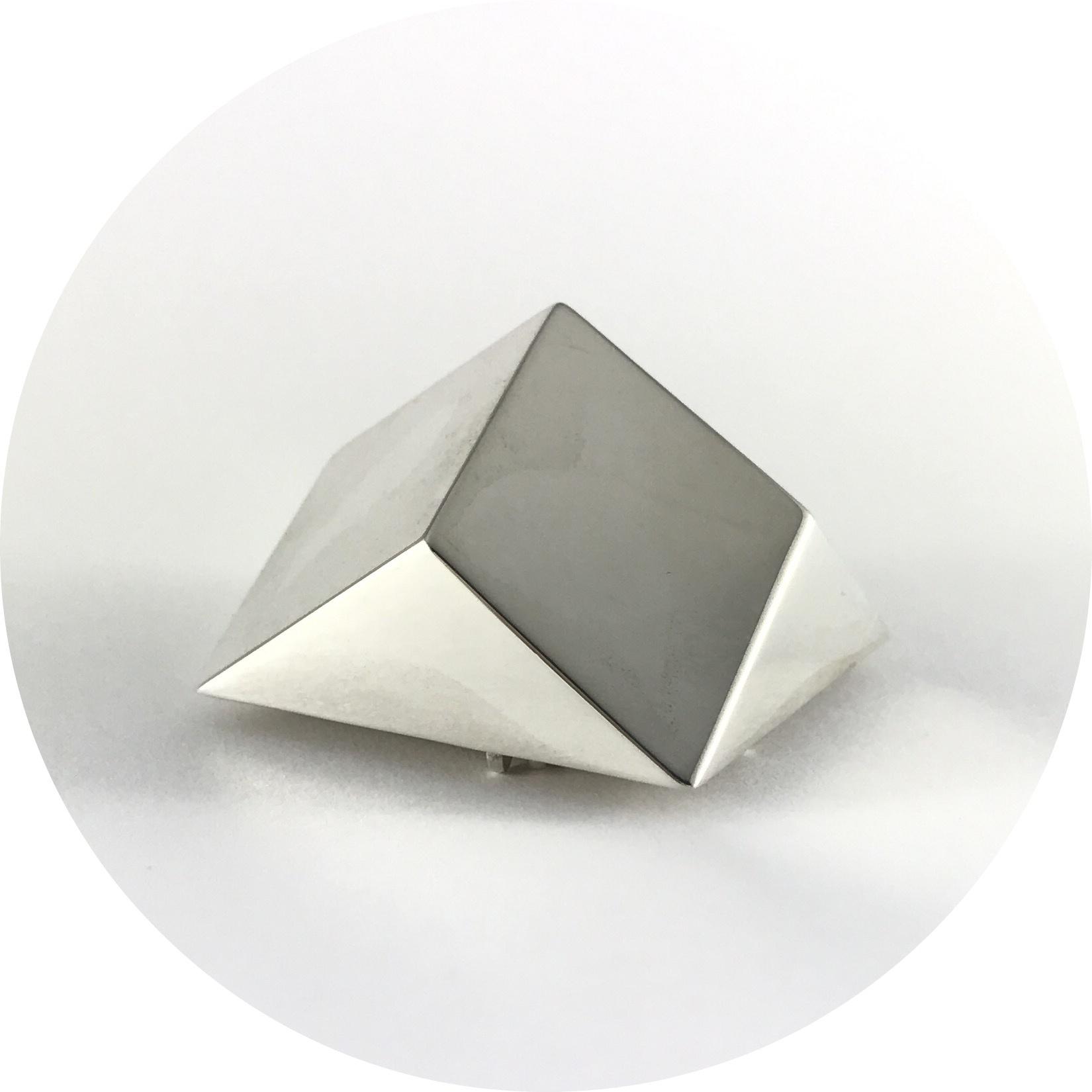 Danielle Kathleen - 'Crystal Geometries' Sterling Silver Brooch I