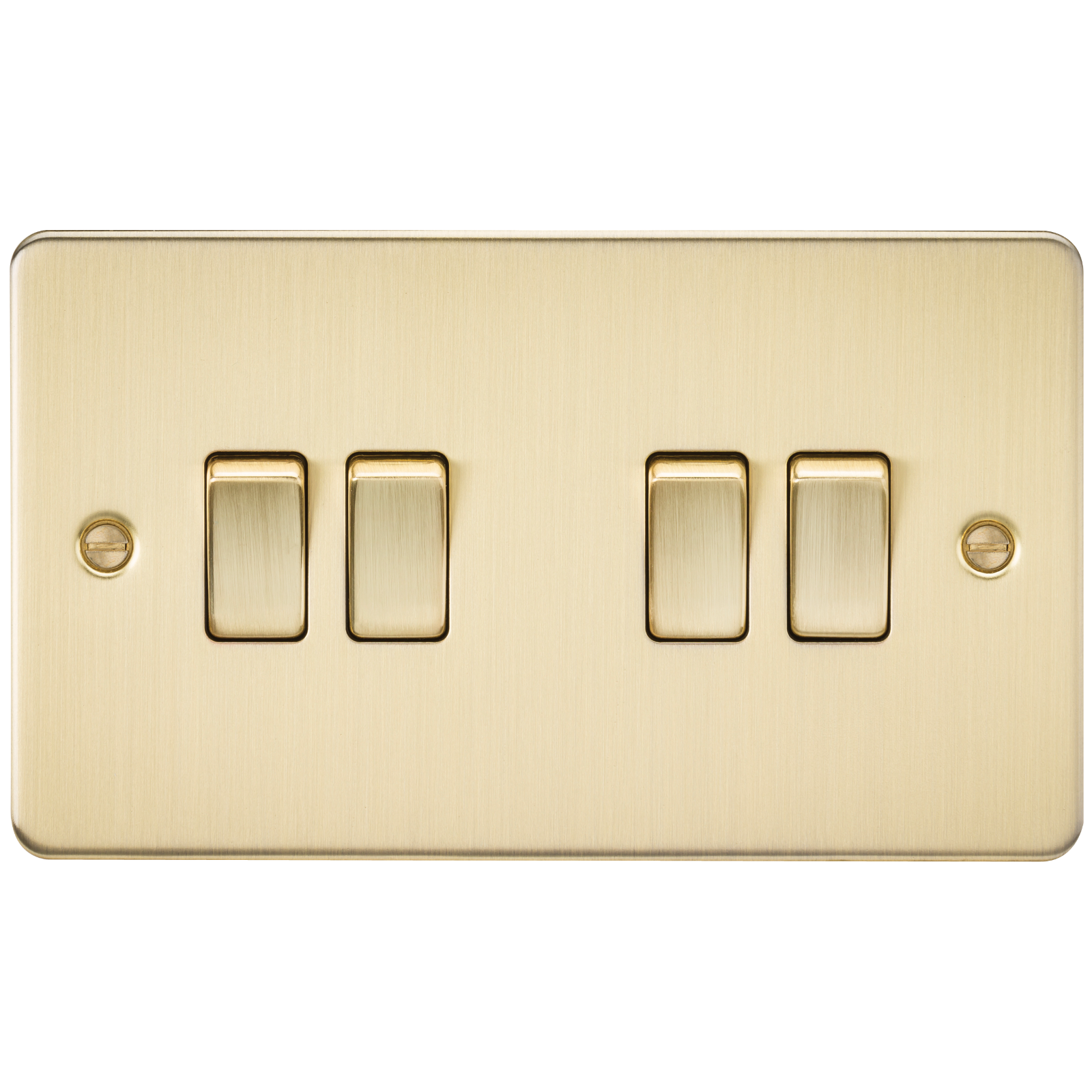 Flat Plate 10a 4g 2 Way Switch Brushed Brass Wimbledon Lighting Electrical