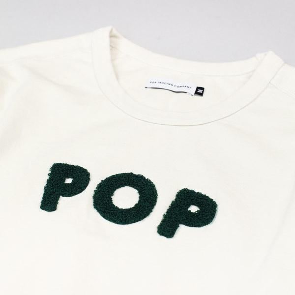 Pop Trading Company Uni LS Tshirt Off White