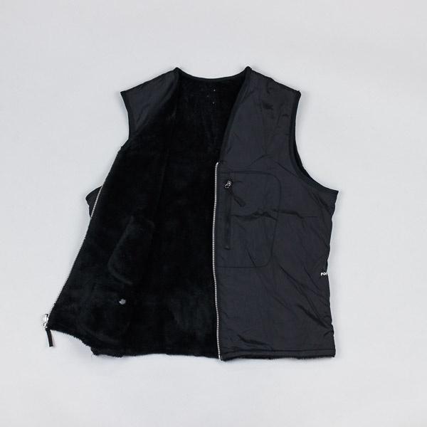 Pop Trading Company Harold Reversible Vest Black