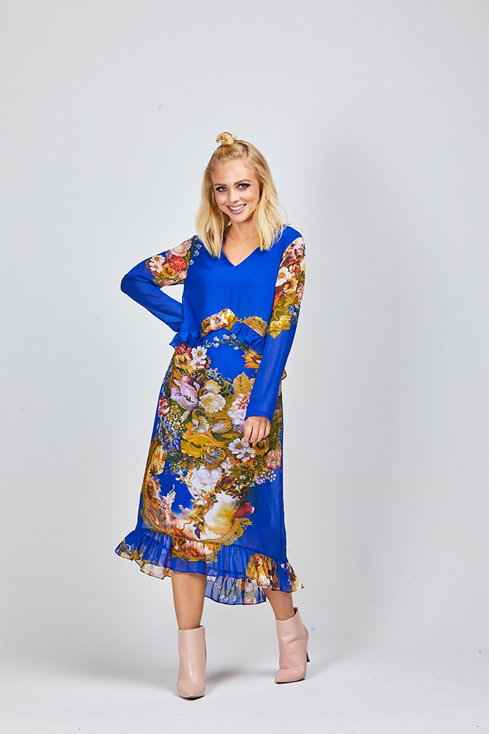 Augustine - Jamie Blue Floral Dress