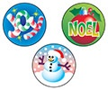 T 932 CHRISTMAS STINKY STICKERS