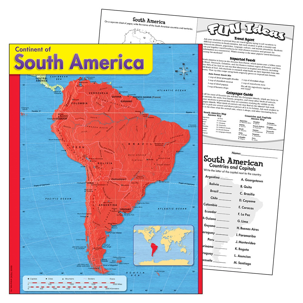 X T 38144 CONTINENT OF SOUTH AMERICA CHART