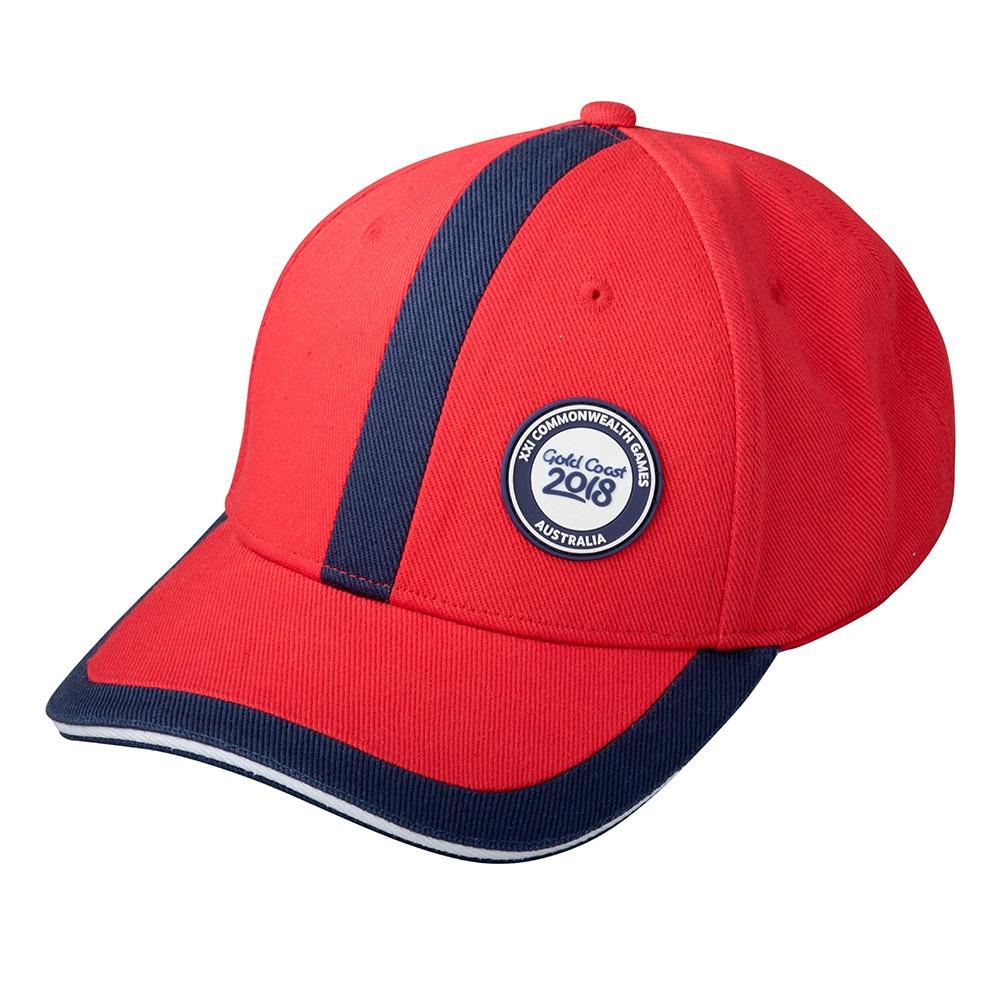 GC2018 Panel Cap Red/Navy