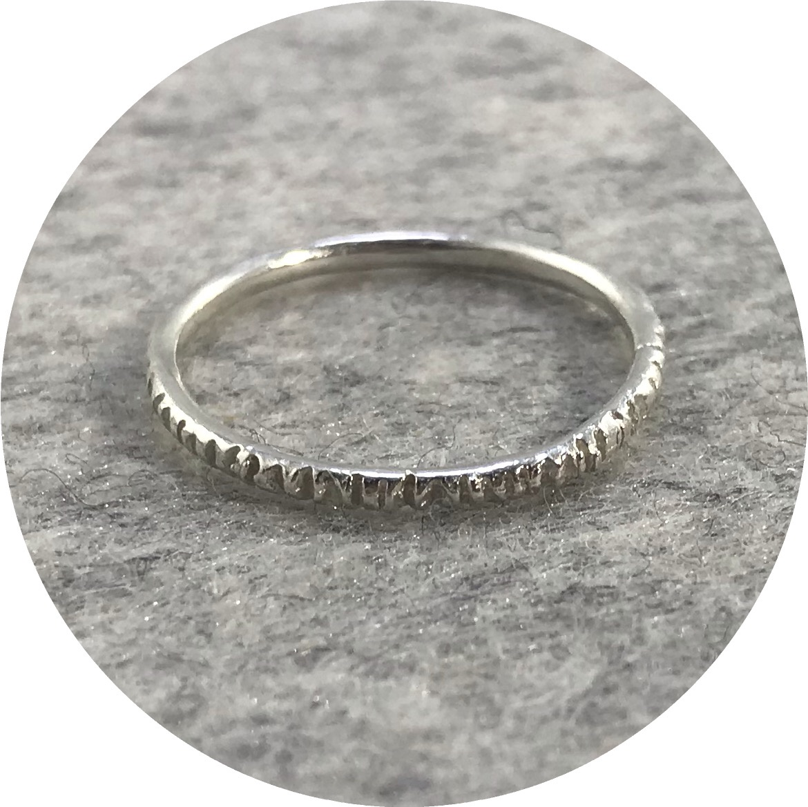 Katie Shanahan - Textured Sterling Silver Ring