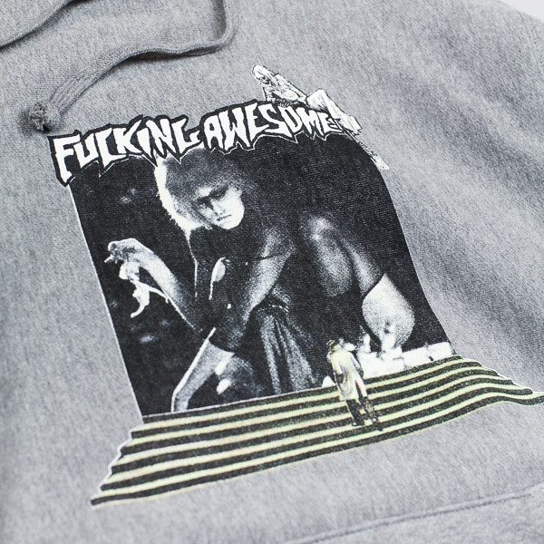 Fucking Awesome Portal Pullover Hood Grey