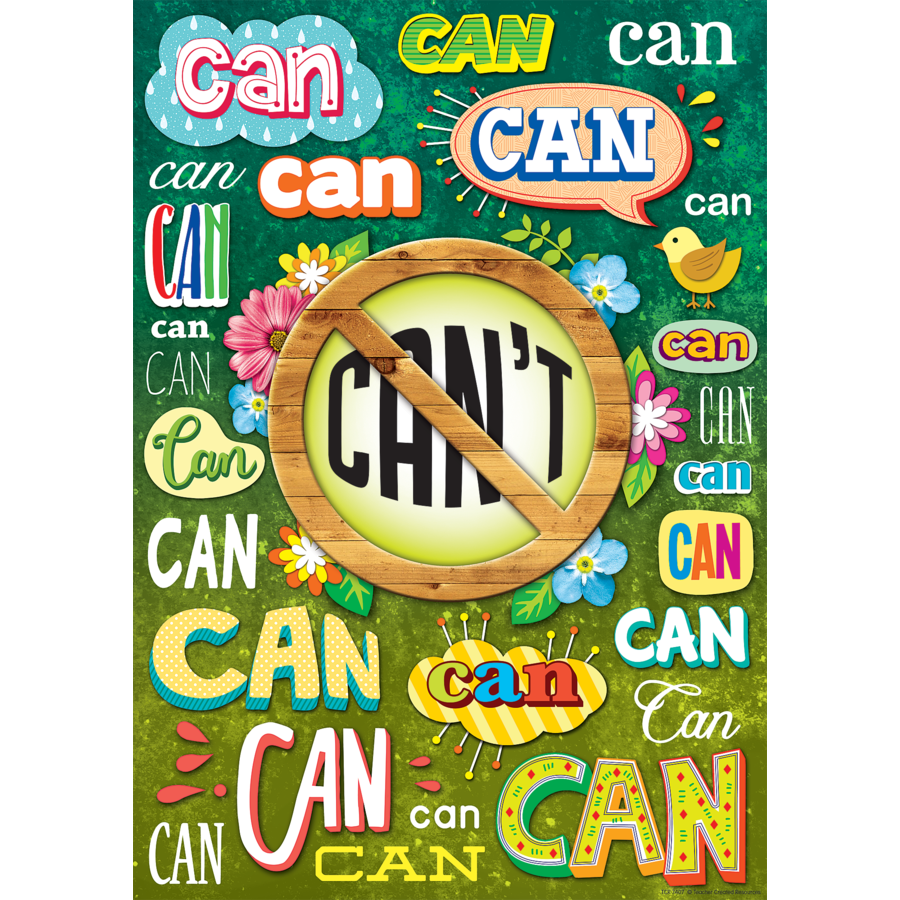 TCR 7407 I CAN POSITIVE POSTER