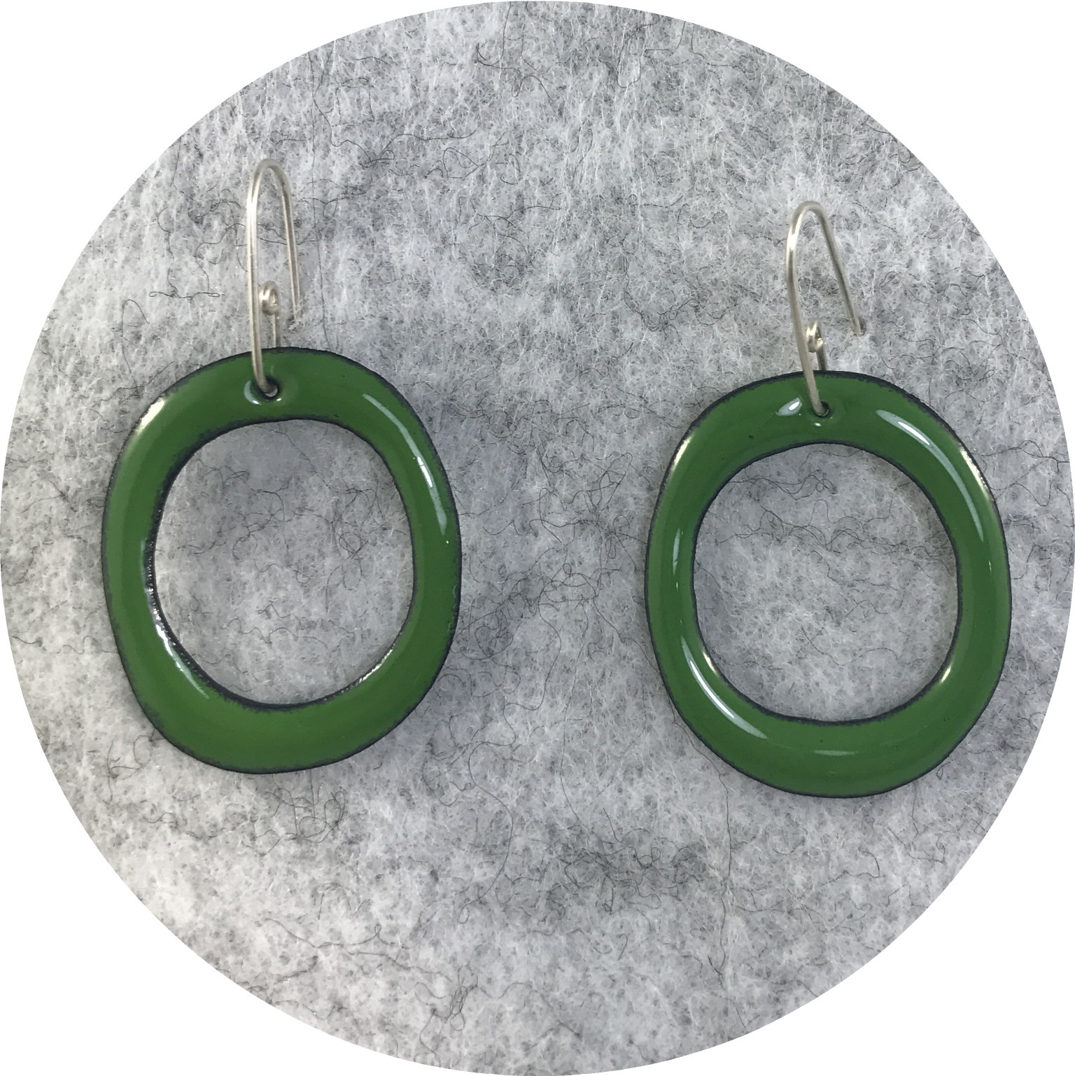 Jenna O'Brien- Enamel Hoops. Medium. Enamel and sterling silver.