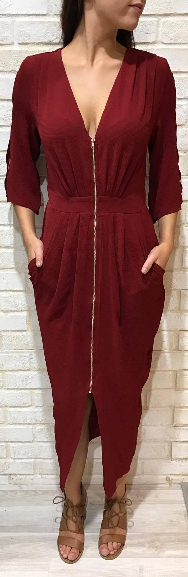 CHAMPAGNE L/S DRESS / IY2074200