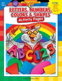 X CTP 2227 LETTERS,NUMBERS,COLORS, SHAPES PREK-K
