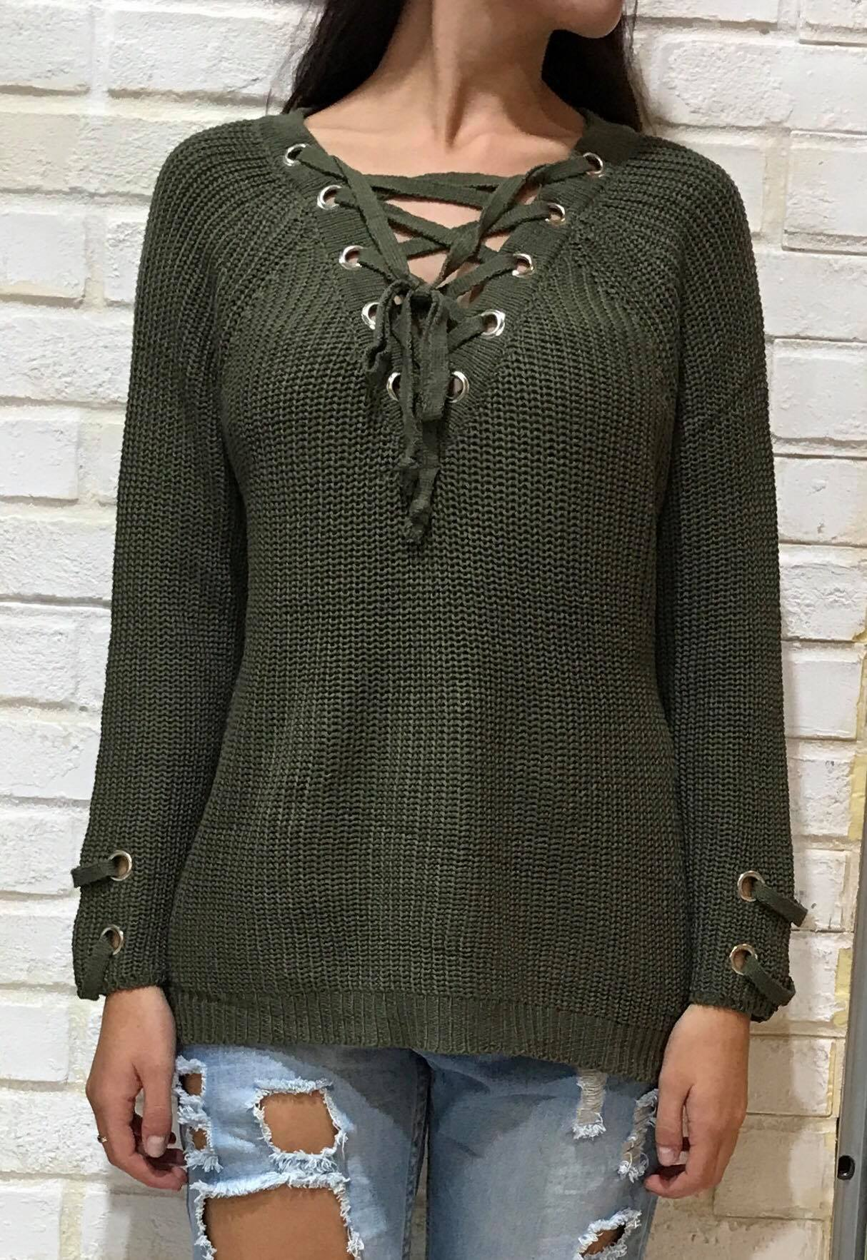 ALL LACE UP KNIT 6207 Image