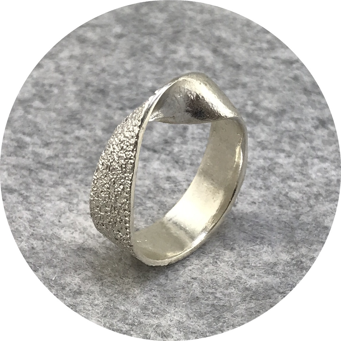 Abby Seymour- Dune Ring. Sterling silver.