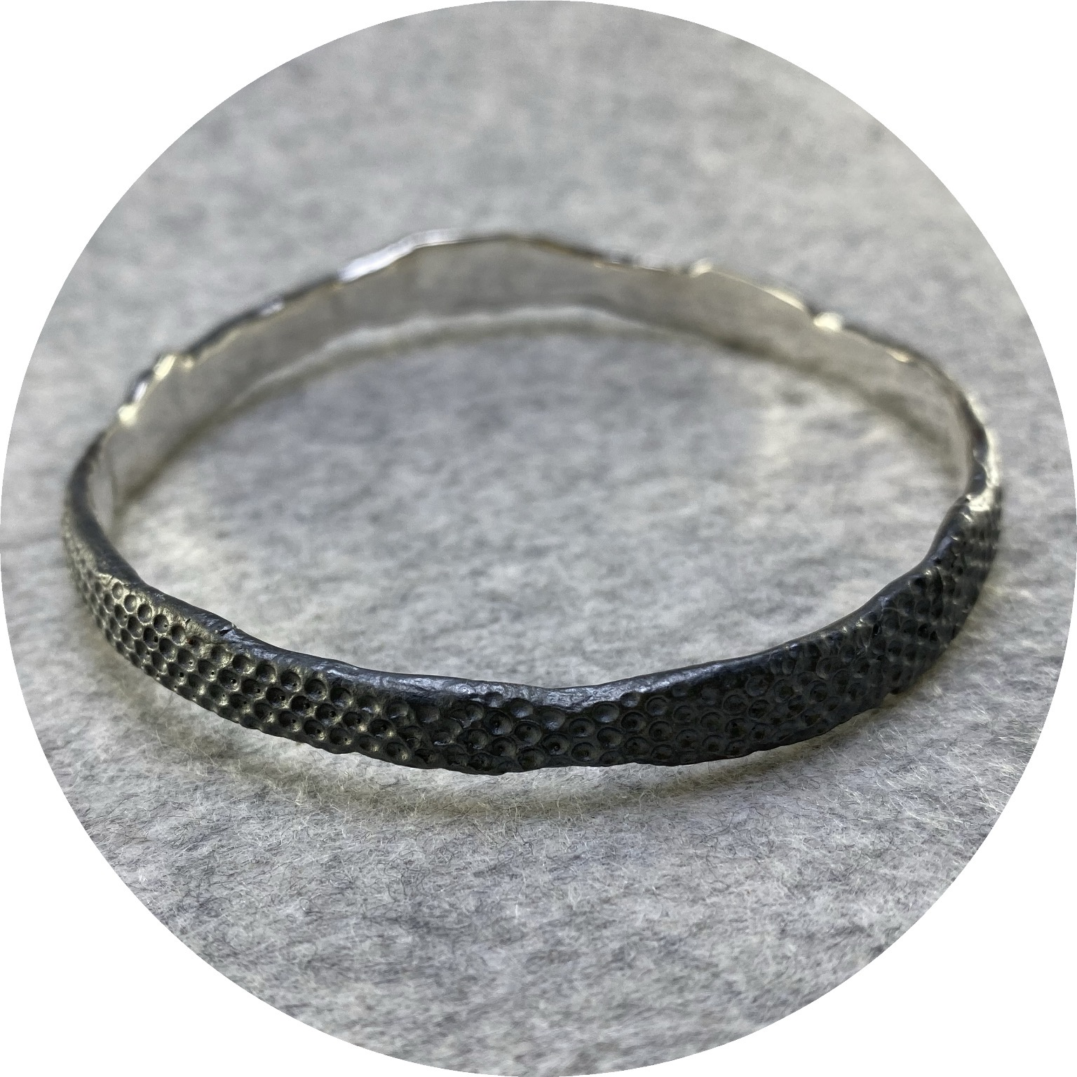 Georgie Brooks - 'Terrain Series Organic Bangle',  925 silver