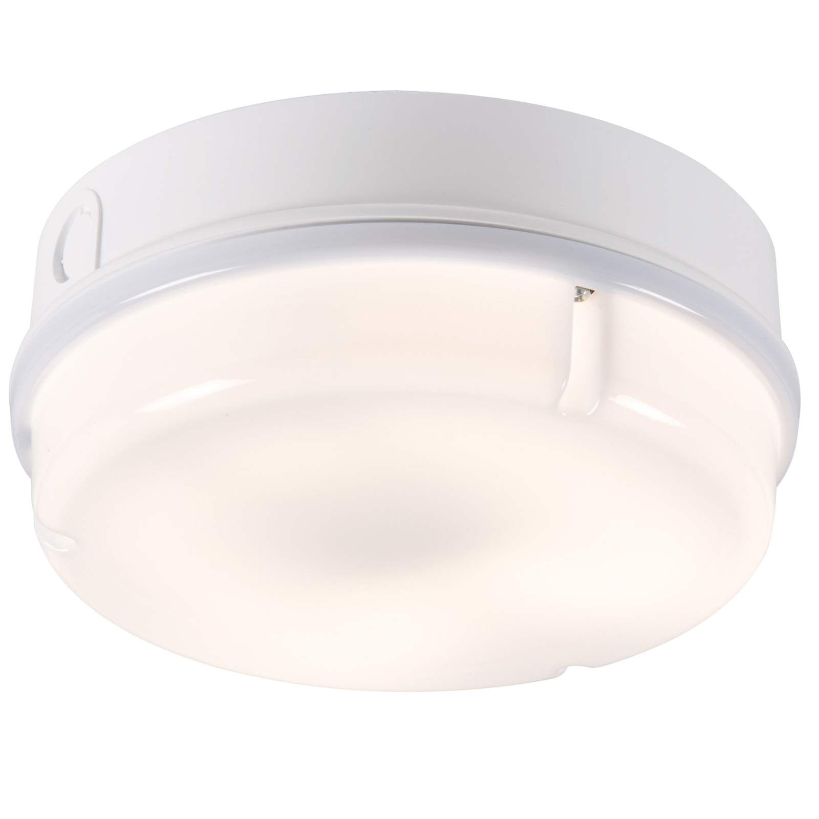 IP65 16W HF Round Bulkhead with Opal Diffuser and White Base