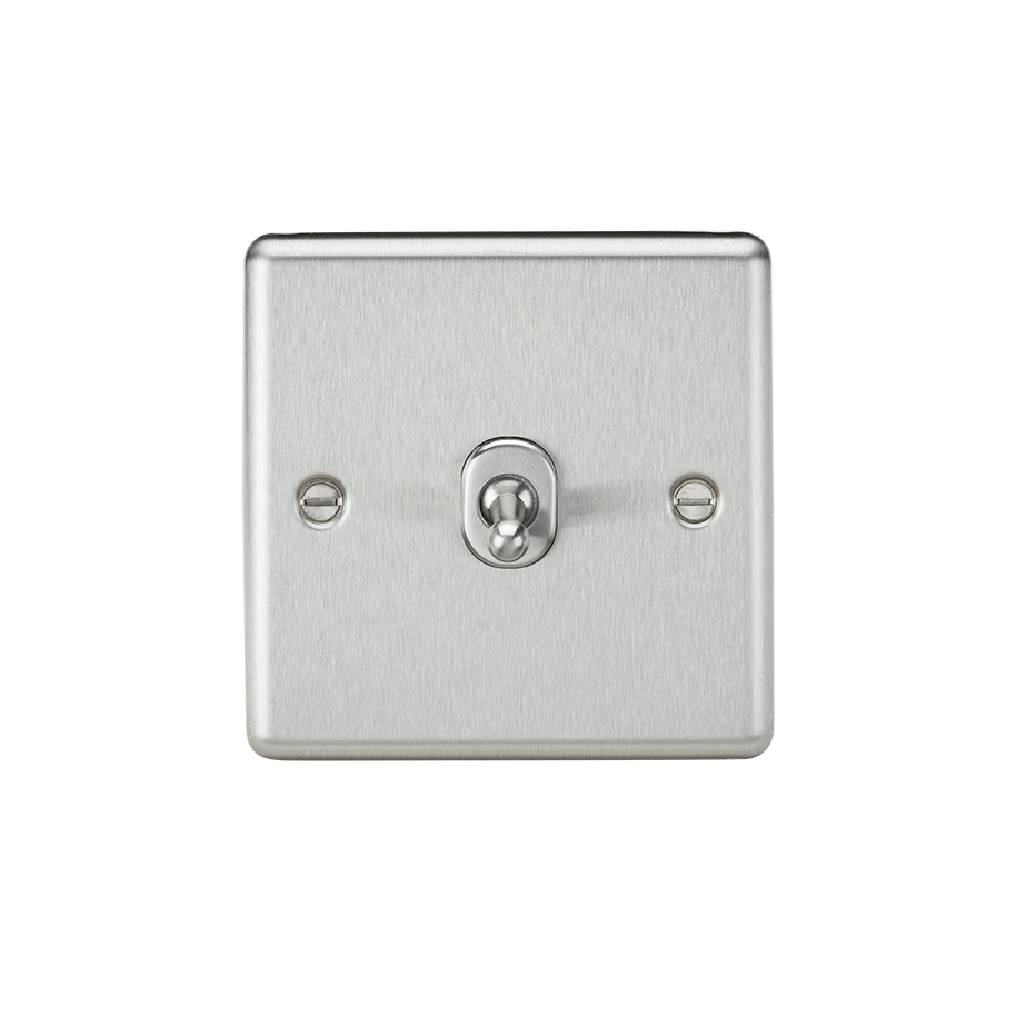 10A 1G INTERMEDIATE TOGGLE SWITCH - ROUNDED EDGE BRUSHED CHROME
