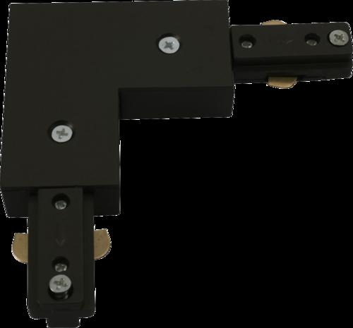 230v track L Right Angle connector Black.