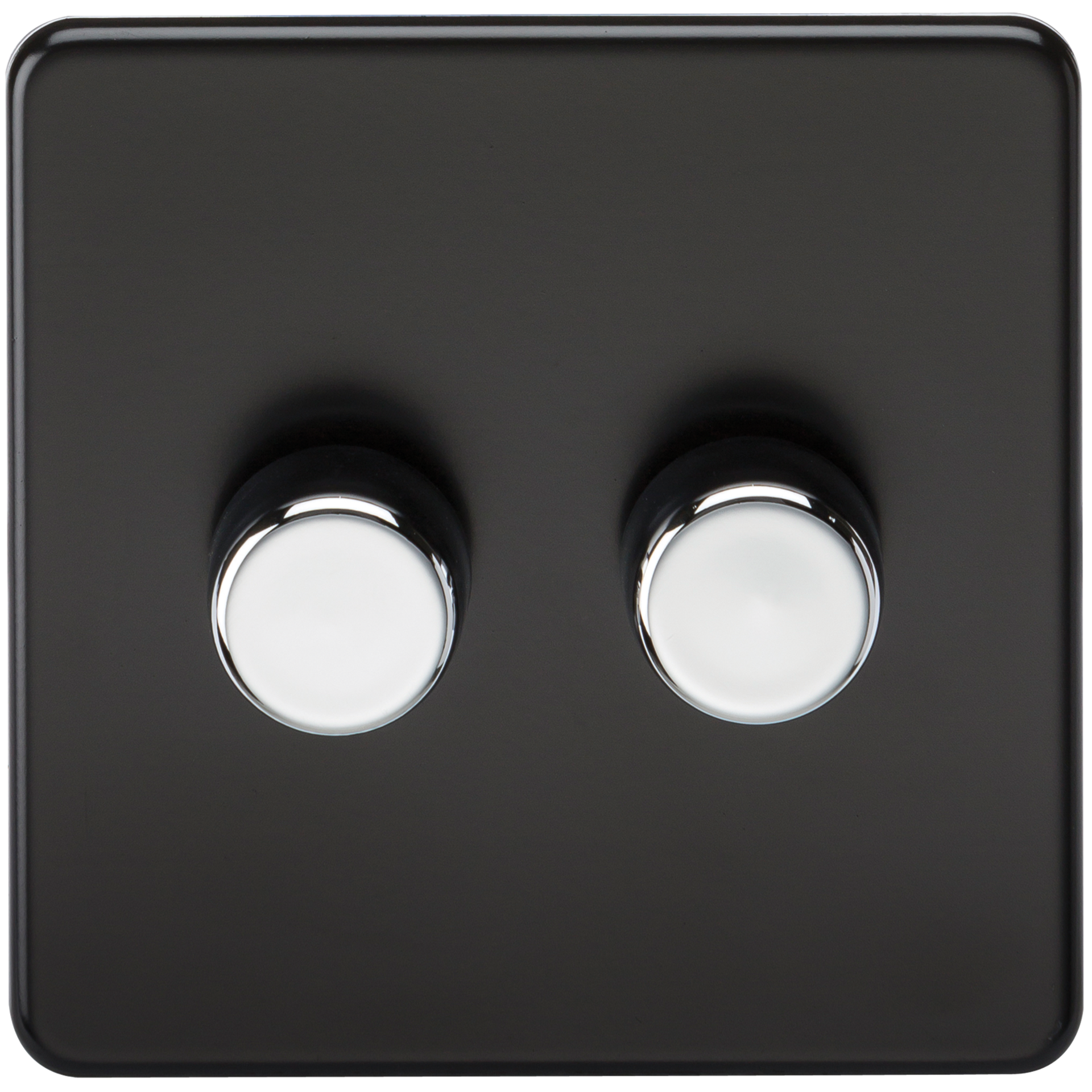 SCREWLESS 2G 2 WAY 40-400W DIMMER SWITCH - MATT BLACK