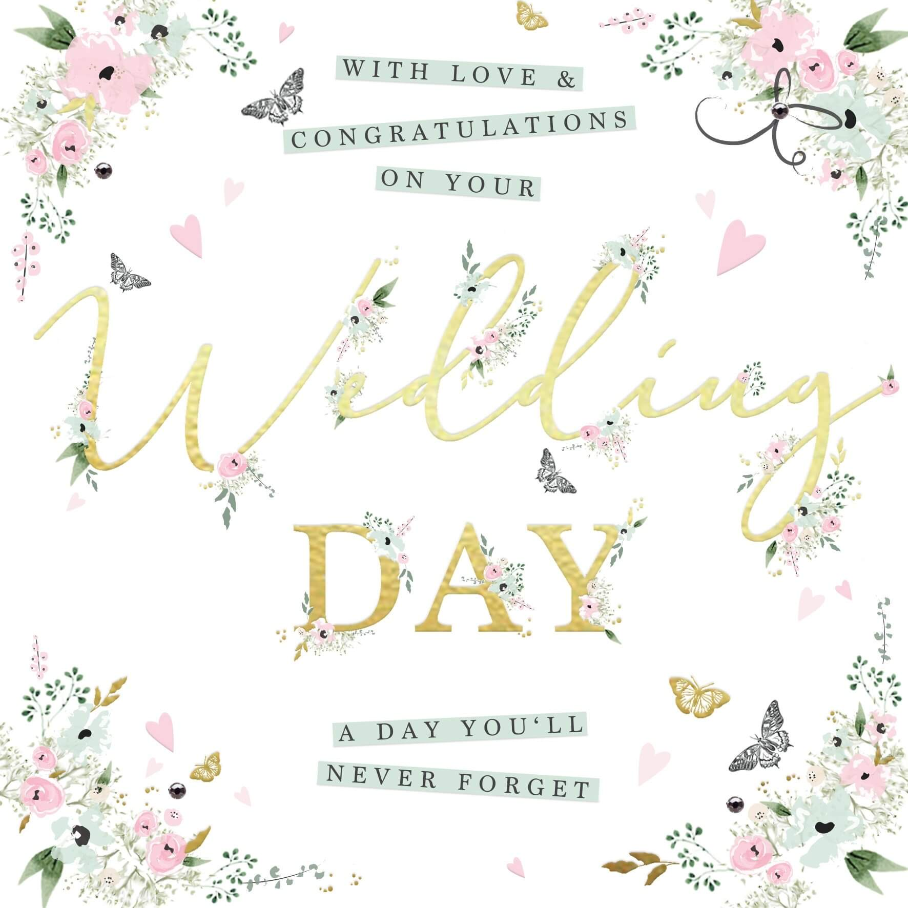 Congratulations On Your Wedding Day.With Love And Congratulations On Your Wedding Day Wb05 Wedding