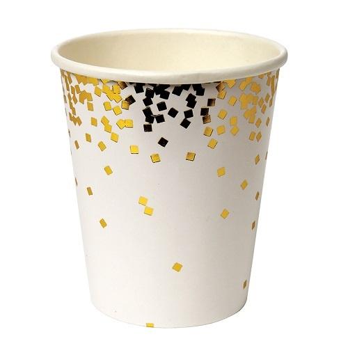 Gold Confetti Party Cups