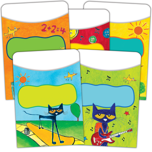 TCR 63923 PETE THE CAT LIBRARY POCKETS