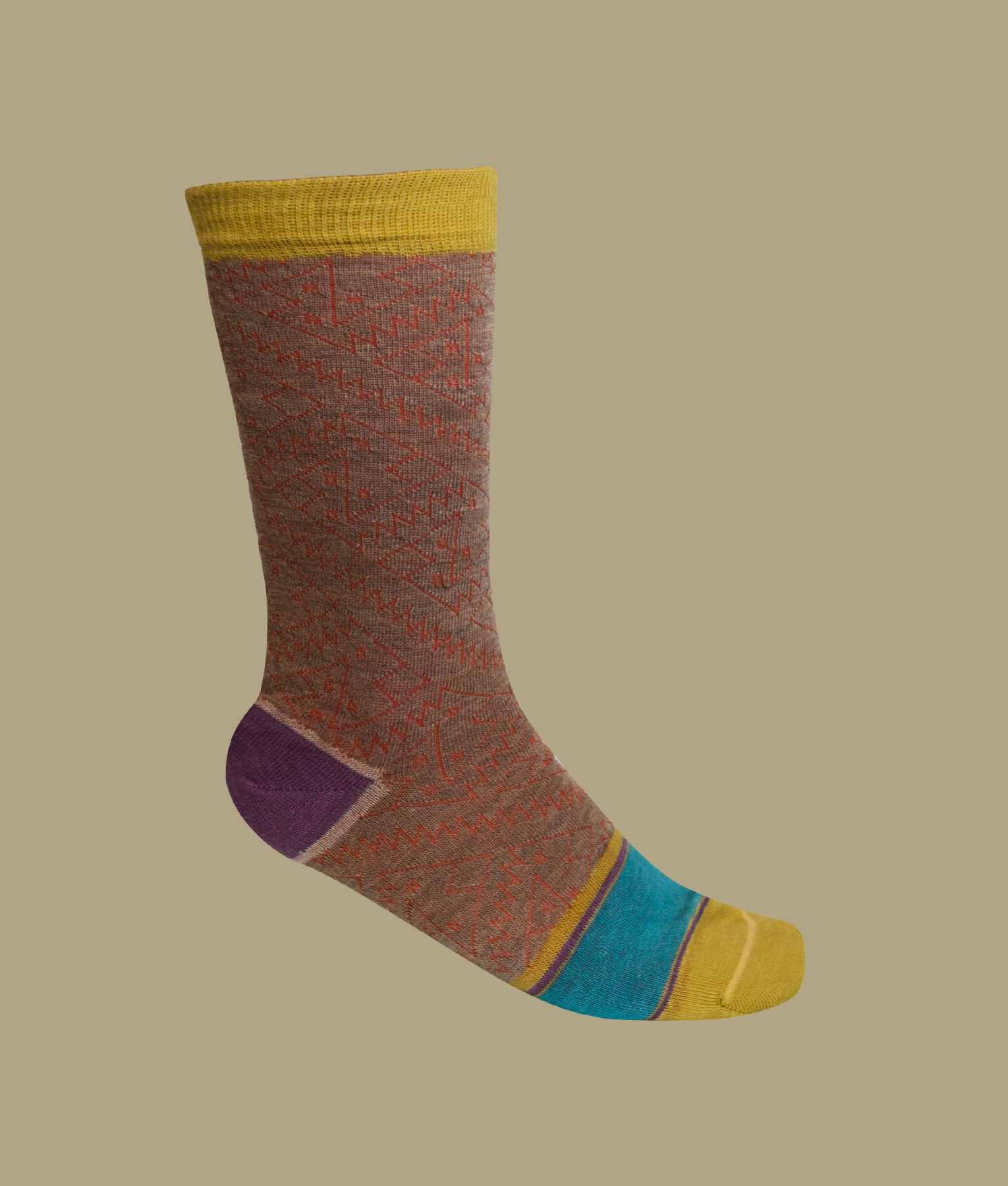 CHANCAY PATTERN LADIES SOCKS C001