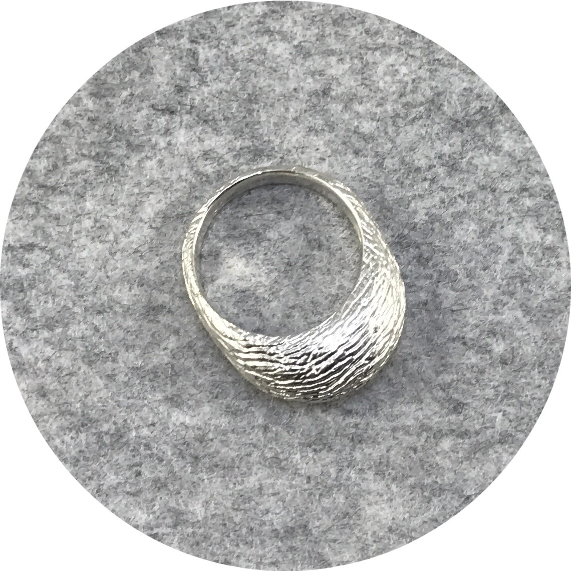 Abby Seymour- Bark Ring. Sterling silver. Size R.