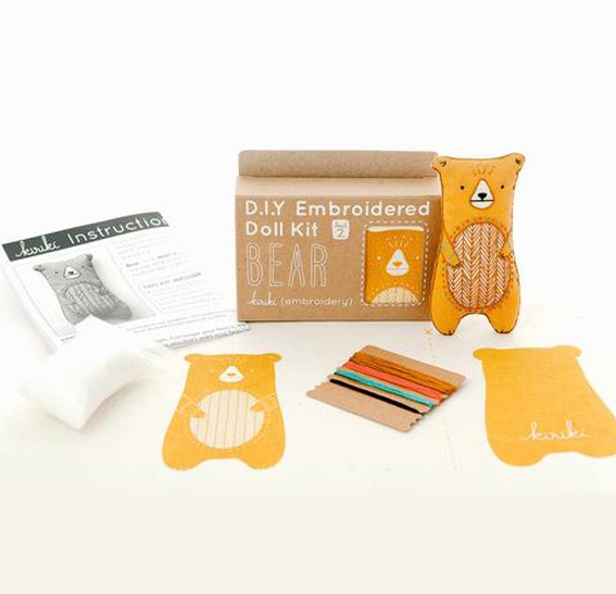 DIY Embroidery Doll Kit