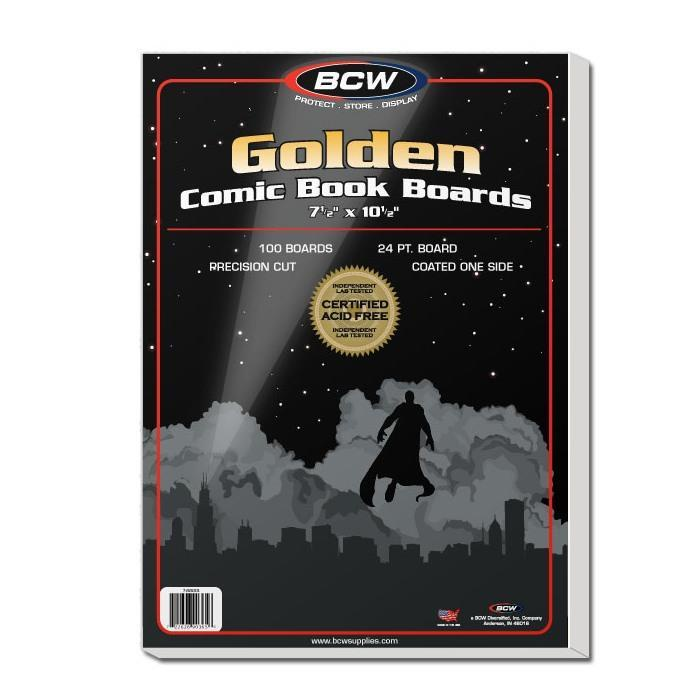 BCW Golden Comic Backing Boards 100 Pack
