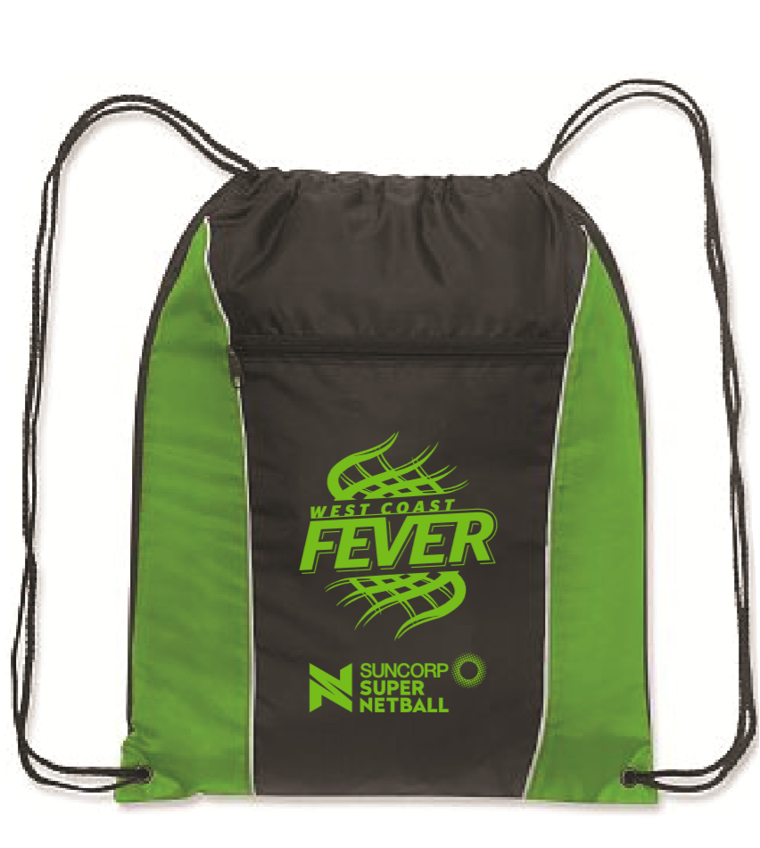 WCF Drawstring Backpack Black/Green
