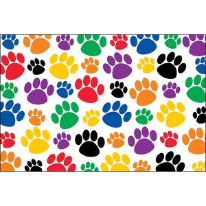 TCR 4799 PAW PRINTS POSTCARDS