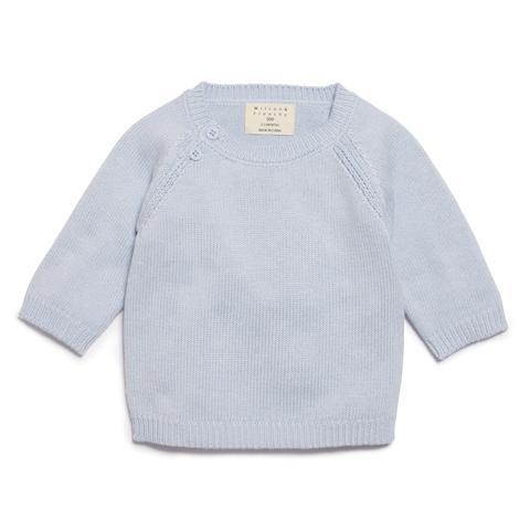 WF Blue Knitted Jumper
