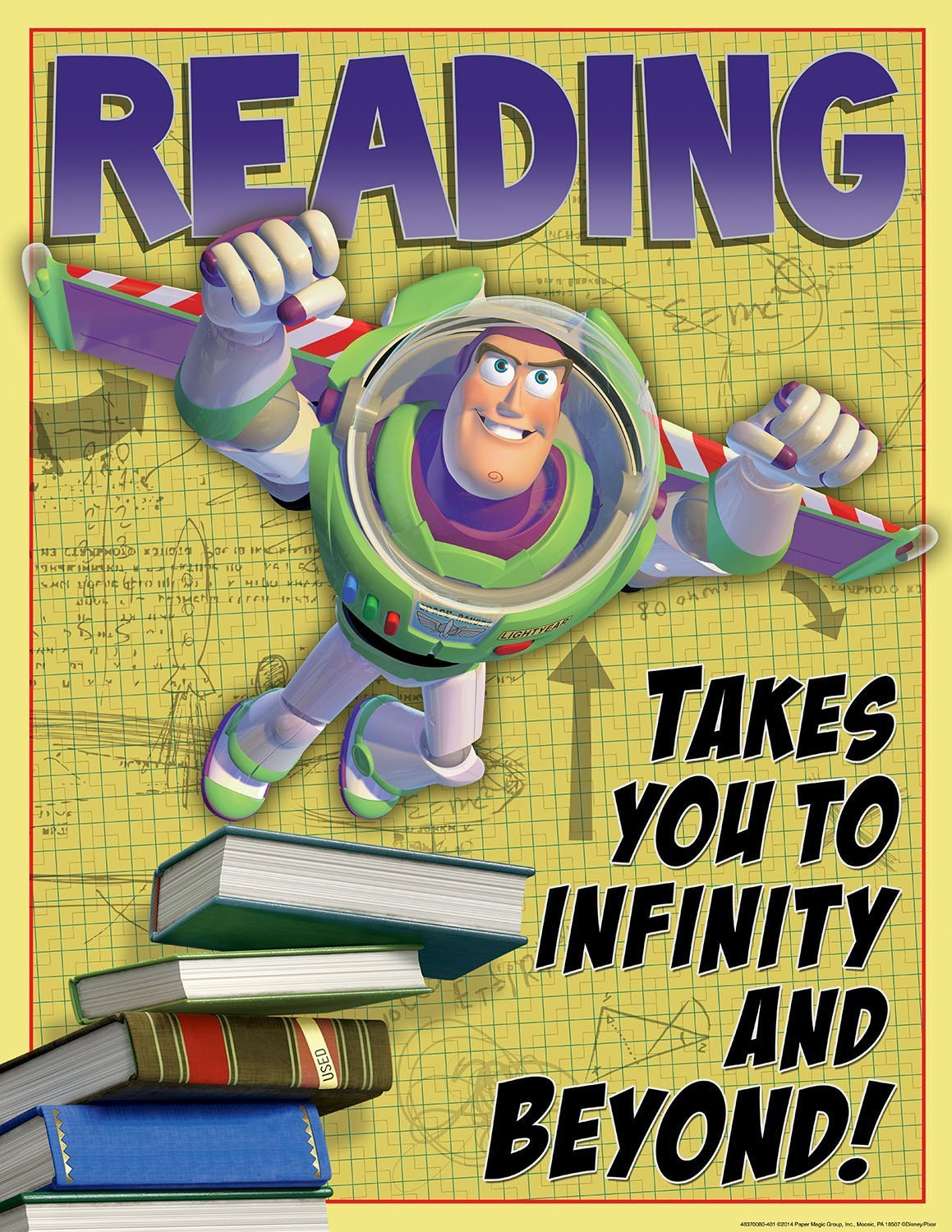 X EU 837008 READING TAKES YOU TO INFINITY AND BEYOND CHART