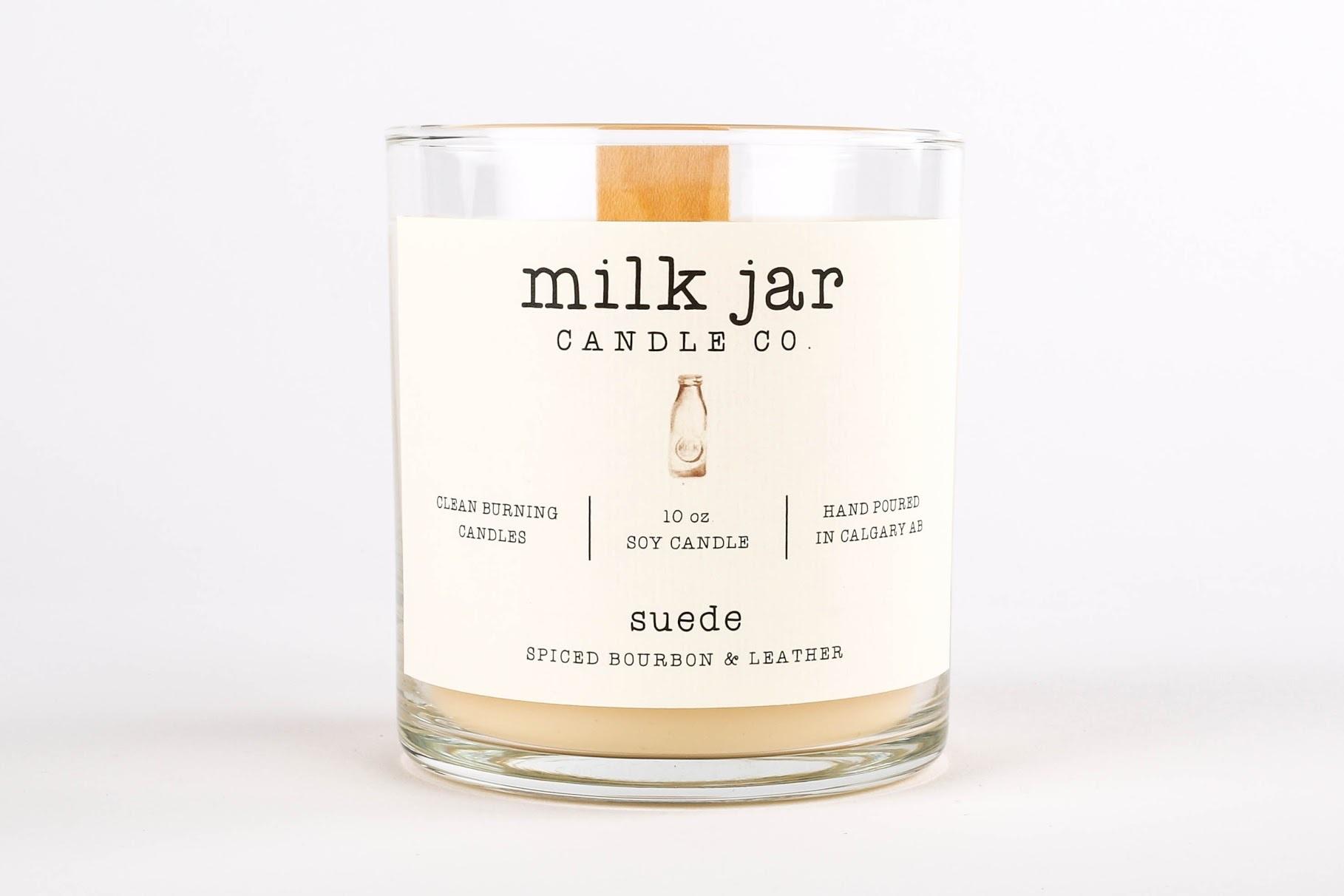 Soy Candle (Milk Jar)
