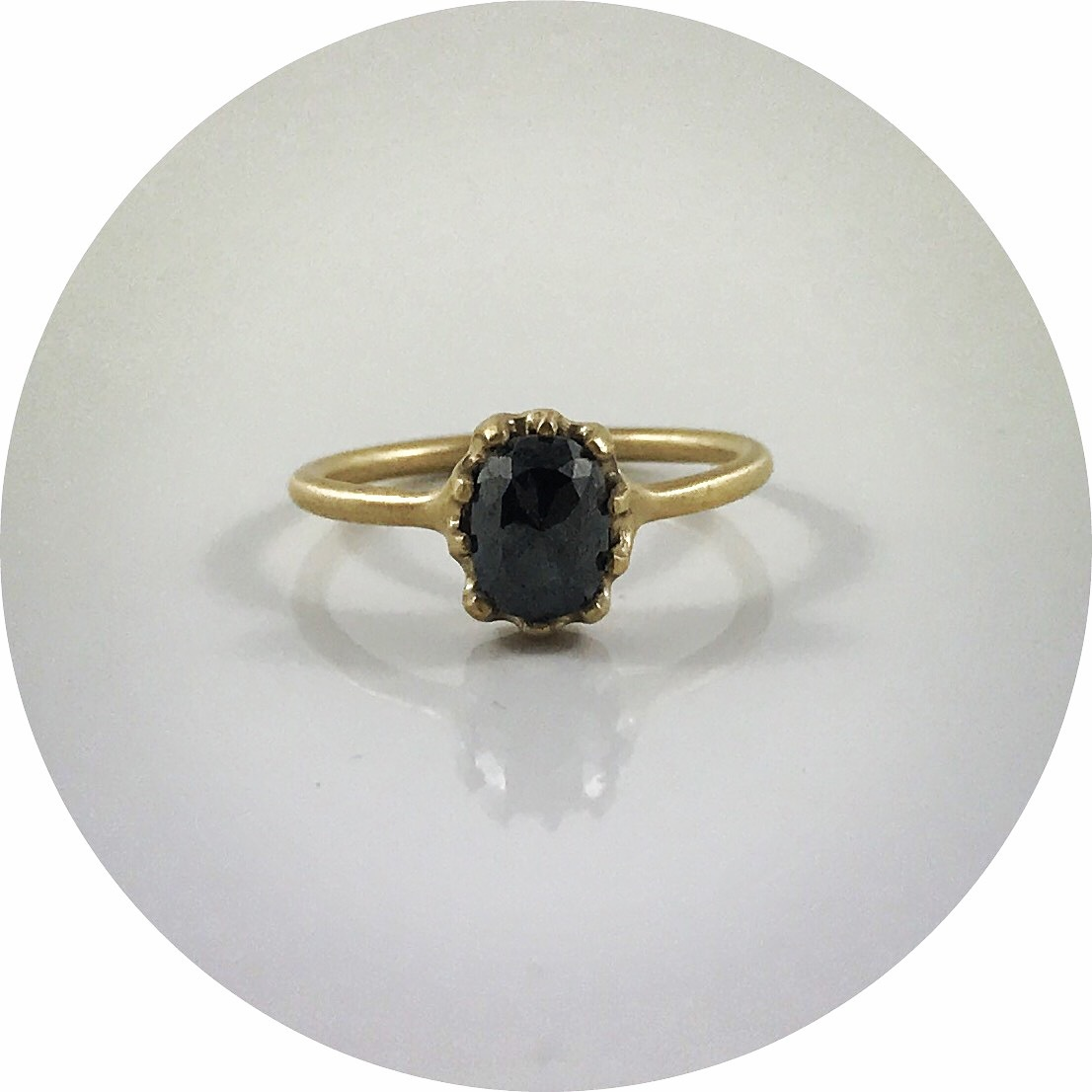 Katie Shanahan - 9ct yellow gold rough diamond ring