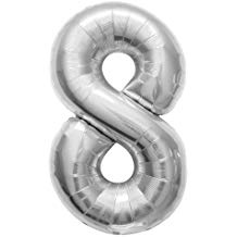 NUMBER 8 SILVER 34''