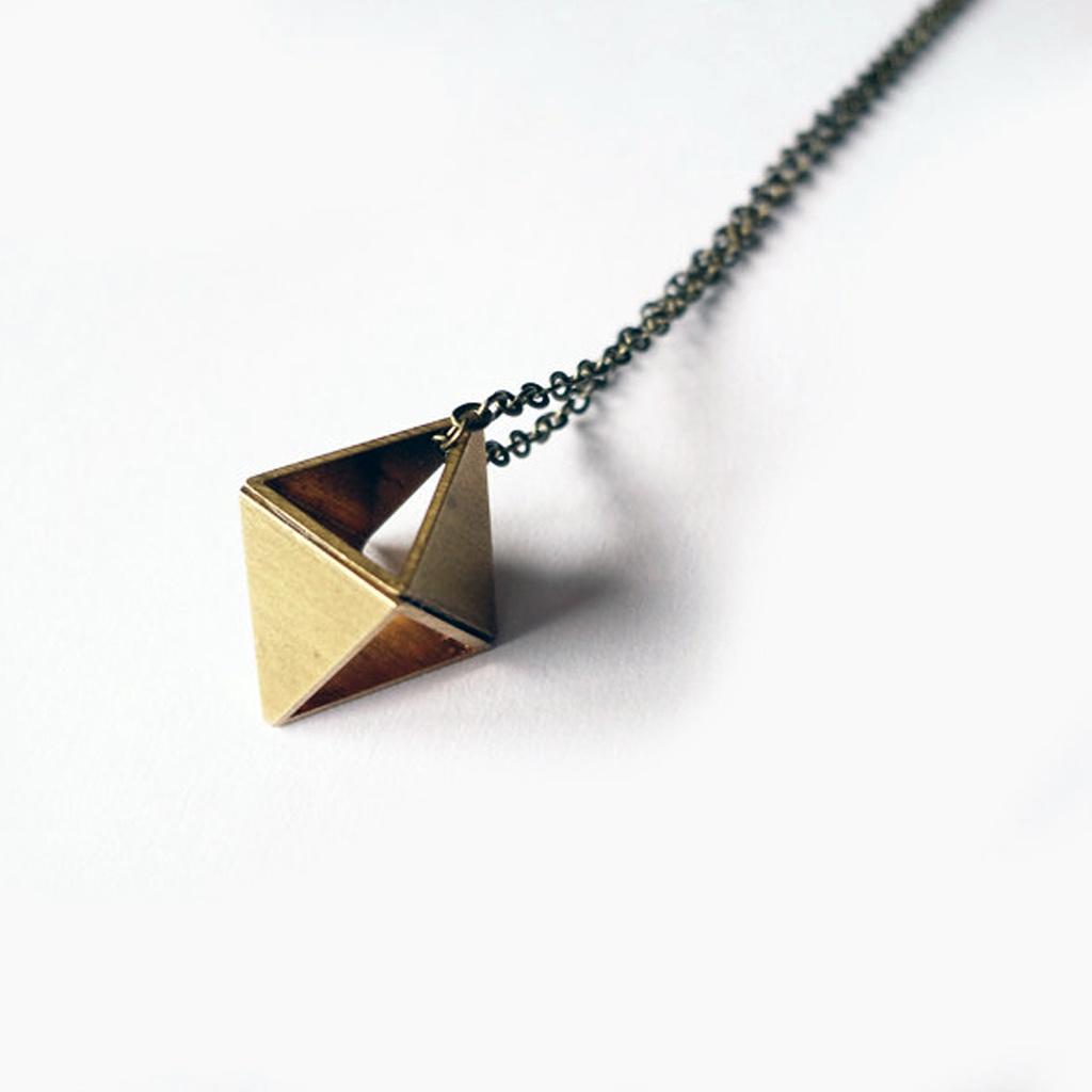Octahedron Necklace