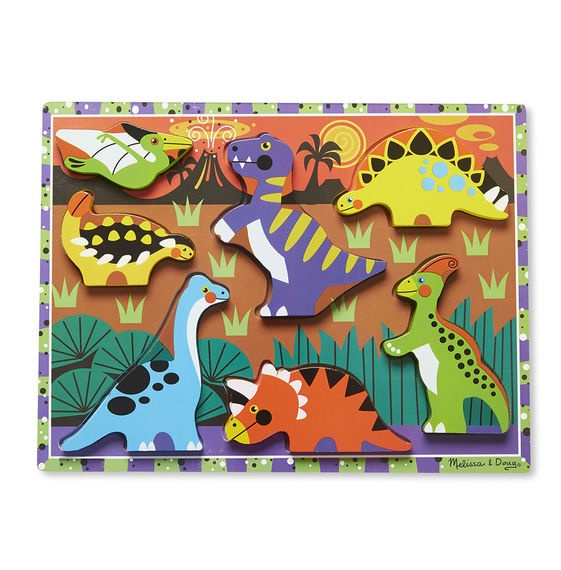 MD 3747 DINOSAURS CHUNKY PUZZLE