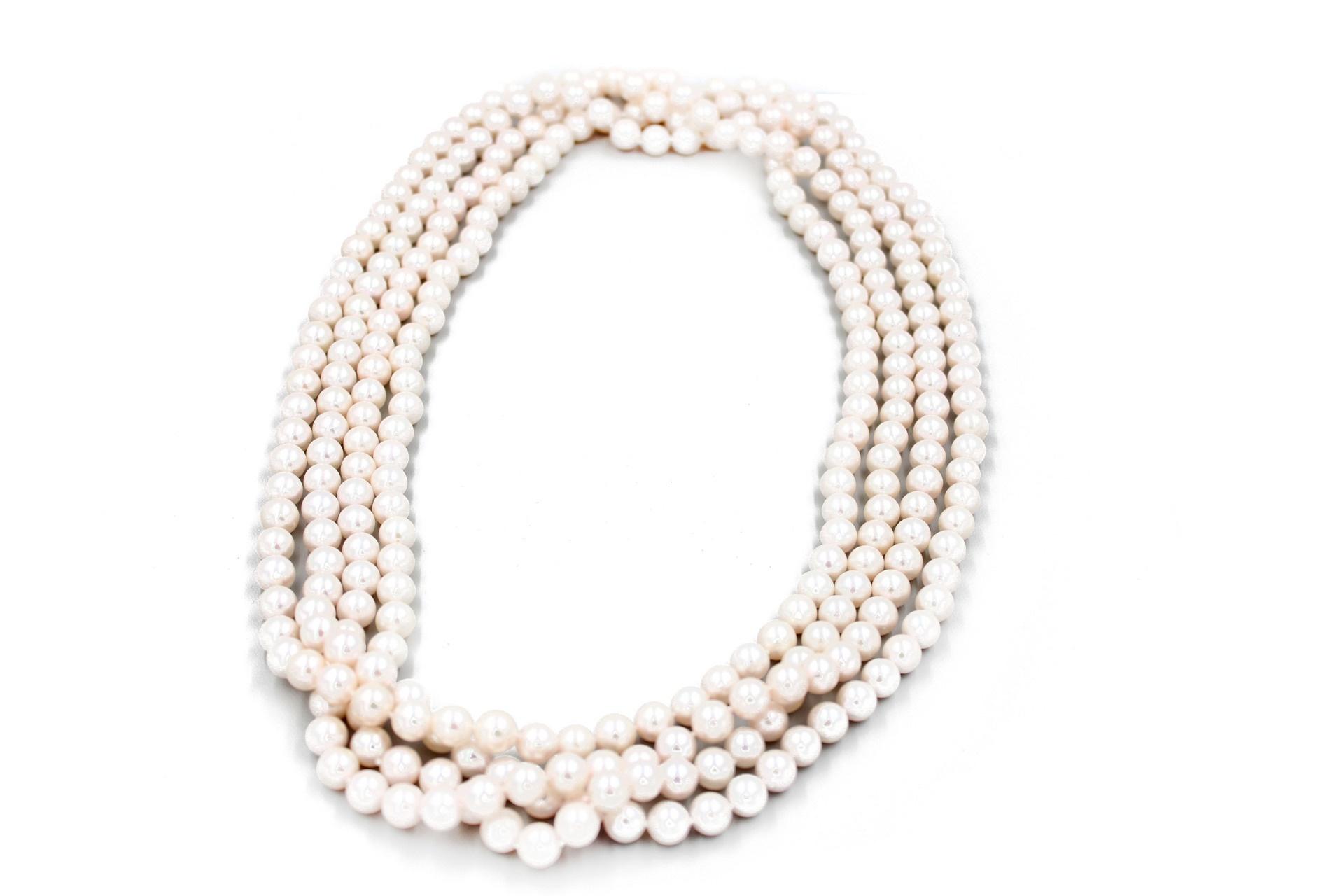 Long Japanese Okoya Pearl Necklace
