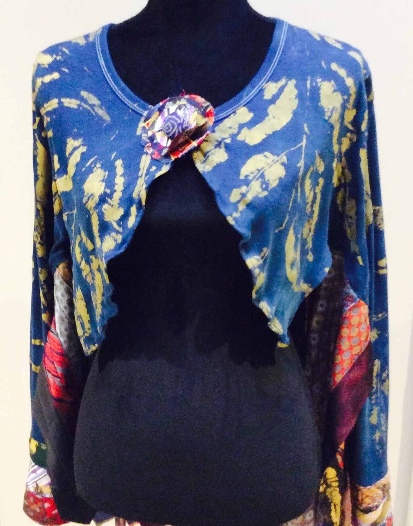Eco Warrior Recycled Tie and T Shirt Cape