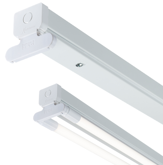 230V T8 Twin LED-Ready Batten Fitting 1225mm (4ft) (without a ballast or driver)