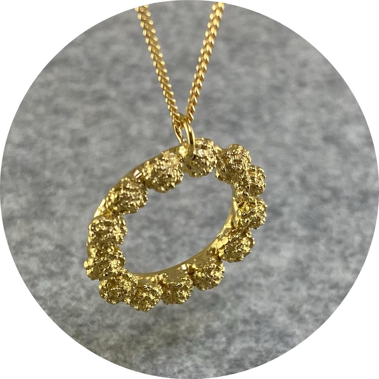 Manuela Igreja - 'Cushion Bush Necklace', 925 silver, yellow gold plate