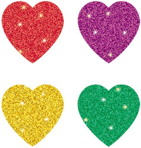 CD 2141 MULTICOLOR HEARTS STICKERS