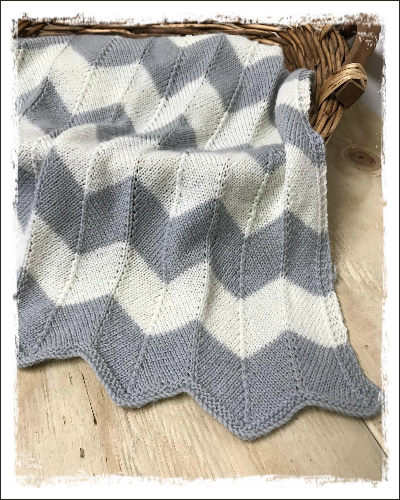 Chevron Blanket for Baby Pattern
