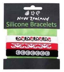 Bracelet 3pc Silicone Maori NZ
