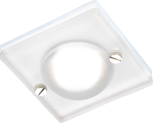 IP65 GU10 50W Square Frosted Glass Downlight in White